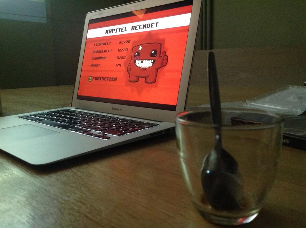 Kapitel beendet - Meat Boy markierte das Ende vom ersten MetaGaming Workshop