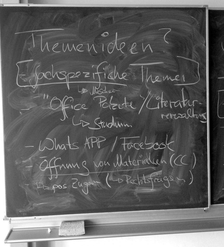 "Dokumentation der Session ""Das erste Mal mit Medien"" auf dem EduCamp in Frankfurt // Foto: Franco Rau"